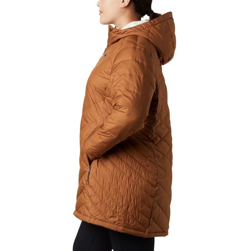 Heavenly™ Long Hdd Jacket | 224 | 1X Women's Heavenly™ Long Hooded Jacket - Plus Size, Camel Brown, a1