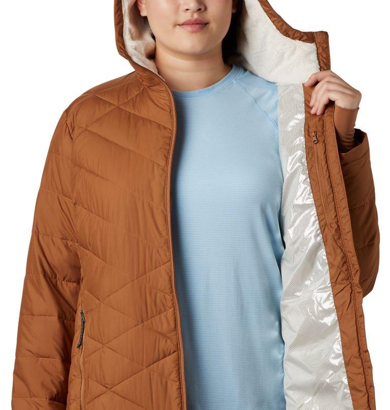 Heavenly™ Long Hdd Jacket | 224 | 1X Women's Heavenly™ Long Hooded Jacket - Plus Size, Camel Brown, a2