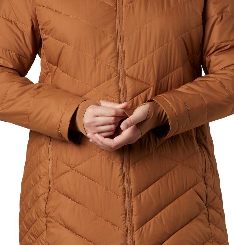 Heavenly™ Long Hdd Jacket | 224 | 1X Women's Heavenly™ Long Hooded Jacket - Plus Size, Camel Brown, a3