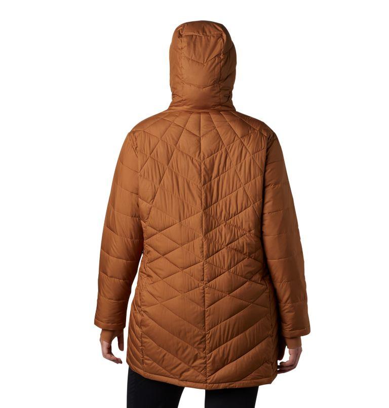 Heavenly™ Long Hdd Jacket | 224 | 1X Women's Heavenly™ Long Hooded Jacket - Plus Size, Camel Brown, back