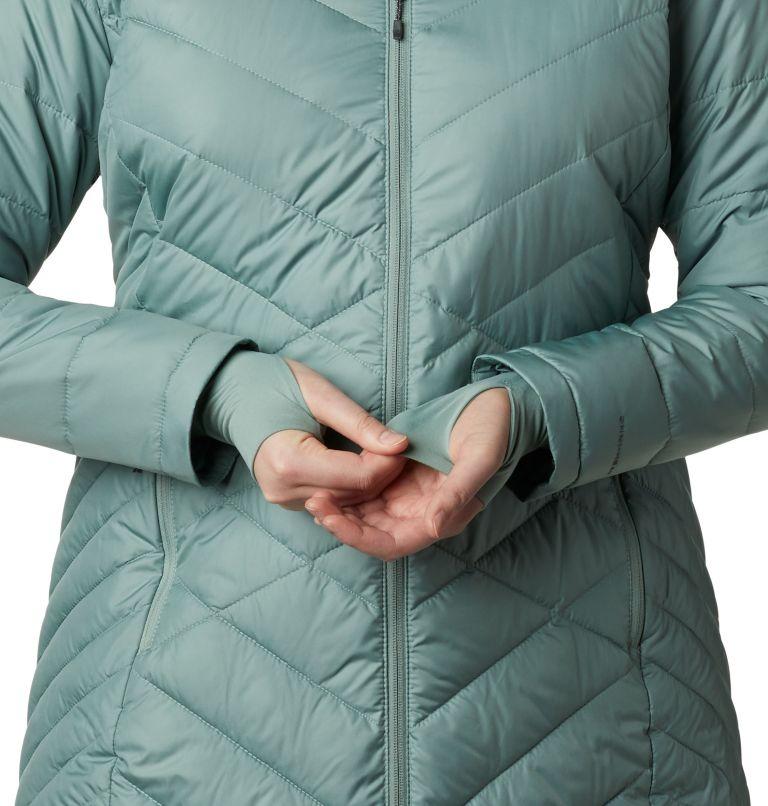 Heavenly™ Long Hdd Jacket | 305 | 2X Women's Heavenly™ Long Hooded Jacket - Plus Size, Light Lichen, a4