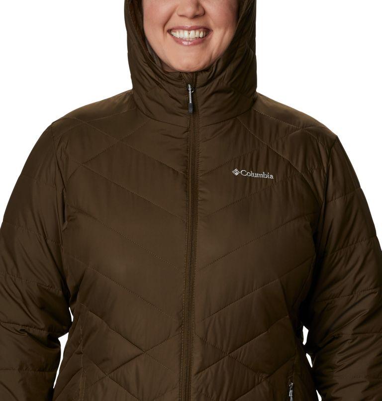 Heavenly™ Long Hdd Jacket | 319 | 2X Women's Heavenly™ Long Hooded Jacket - Plus Size, Olive Green, a2