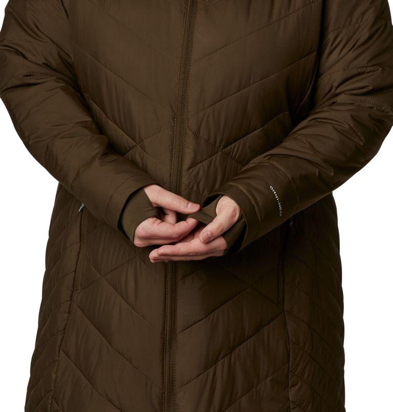 Heavenly™ Long Hdd Jacket | 319 | 2X Women's Heavenly™ Long Hooded Jacket - Plus Size, Olive Green, a4