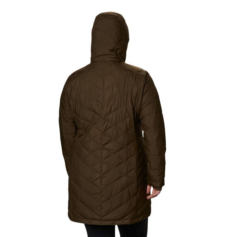Heavenly™ Long Hdd Jacket | 319 | 2X Women's Heavenly™ Long Hooded Jacket - Plus Size, Olive Green, back