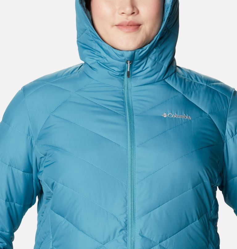Heavenly™ Long Hdd Jacket | 430 | 1X Women's Heavenly™ Long Hooded Jacket - Plus Size, Canyon Blue, a2