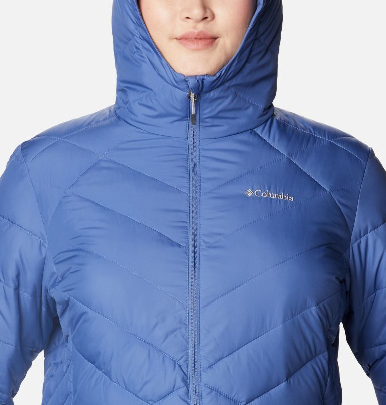 Heavenly™ Long Hdd Jacket | 458 | 2X Women's Heavenly™ Long Hooded Jacket - Plus Size, Velvet Cove, a2
