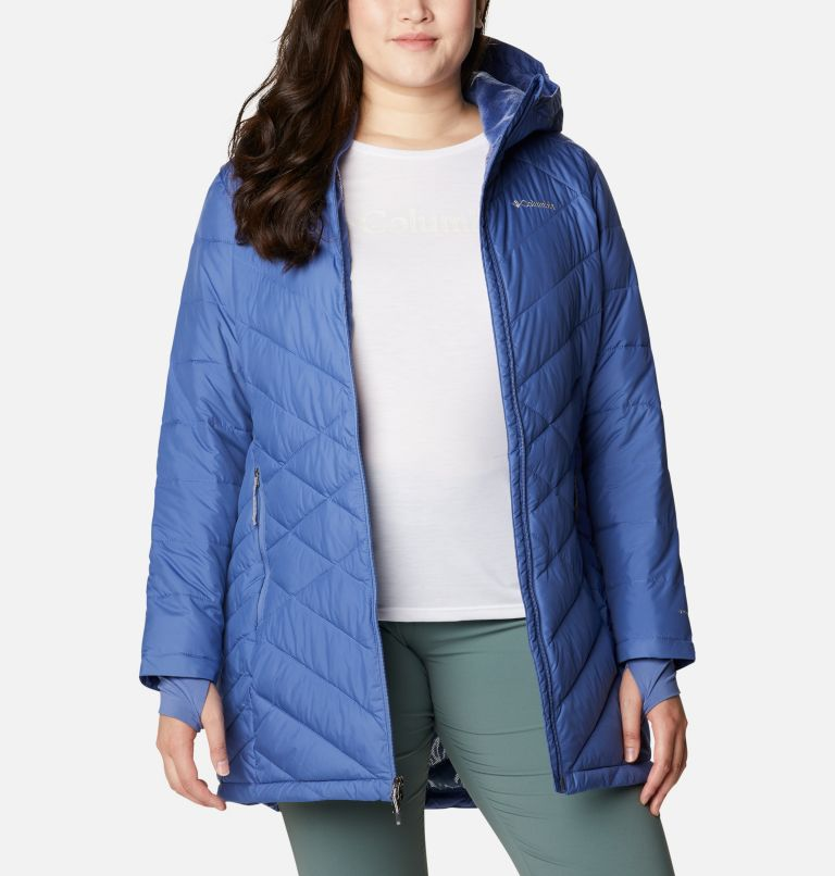 Heavenly™ Long Hdd Jacket | 458 | 2X Women's Heavenly™ Long Hooded Jacket - Plus Size, Velvet Cove, a5