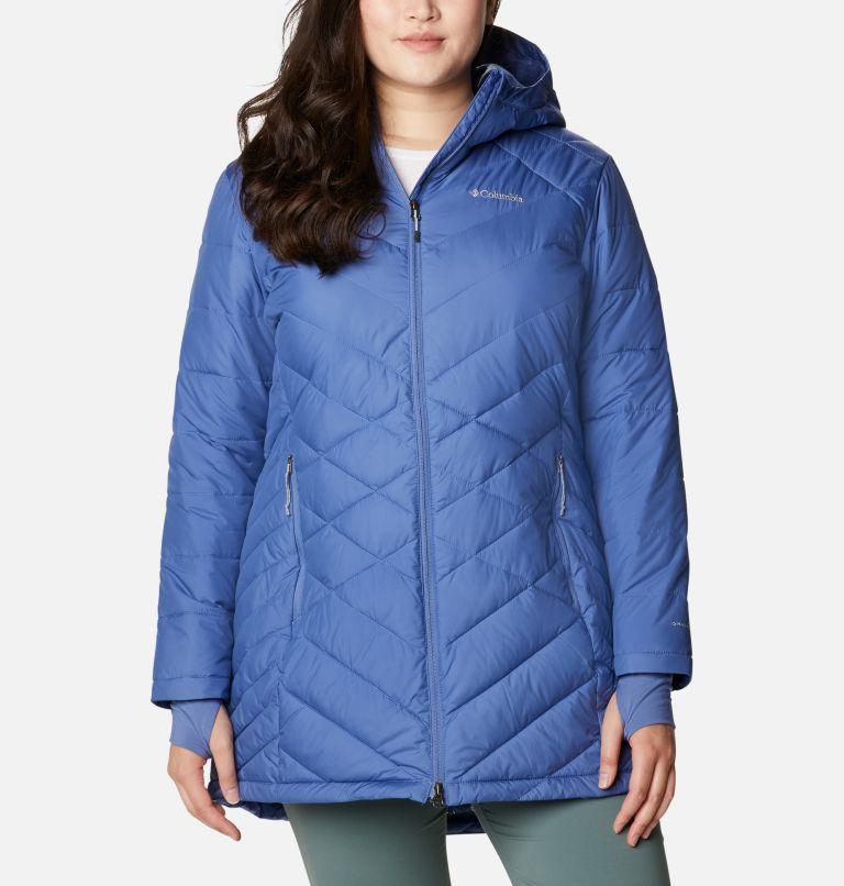 Heavenly™ Long Hdd Jacket | 458 | 2X Women's Heavenly™ Long Hooded Jacket - Plus Size, Velvet Cove, front