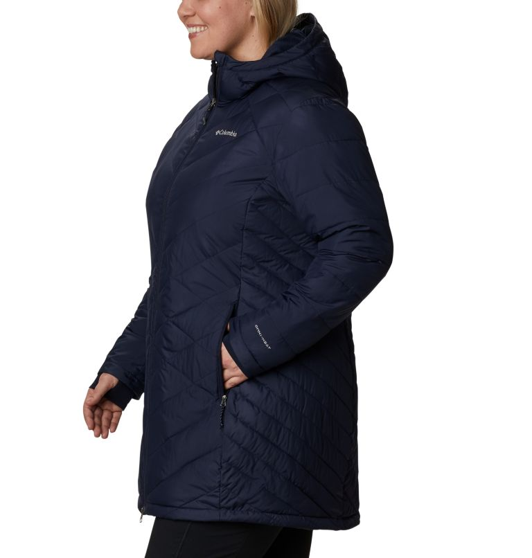Heavenly™ Long Hdd Jacket   472   2X Women's Heavenly™ Long Hooded Jacket - Plus Size, Dark Nocturnal, a1