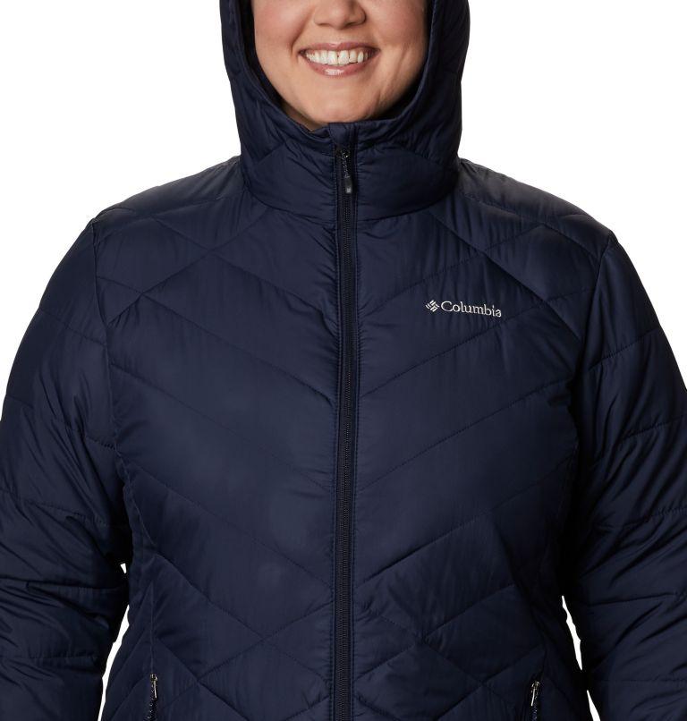 Heavenly™ Long Hdd Jacket   472   2X Women's Heavenly™ Long Hooded Jacket - Plus Size, Dark Nocturnal, a2