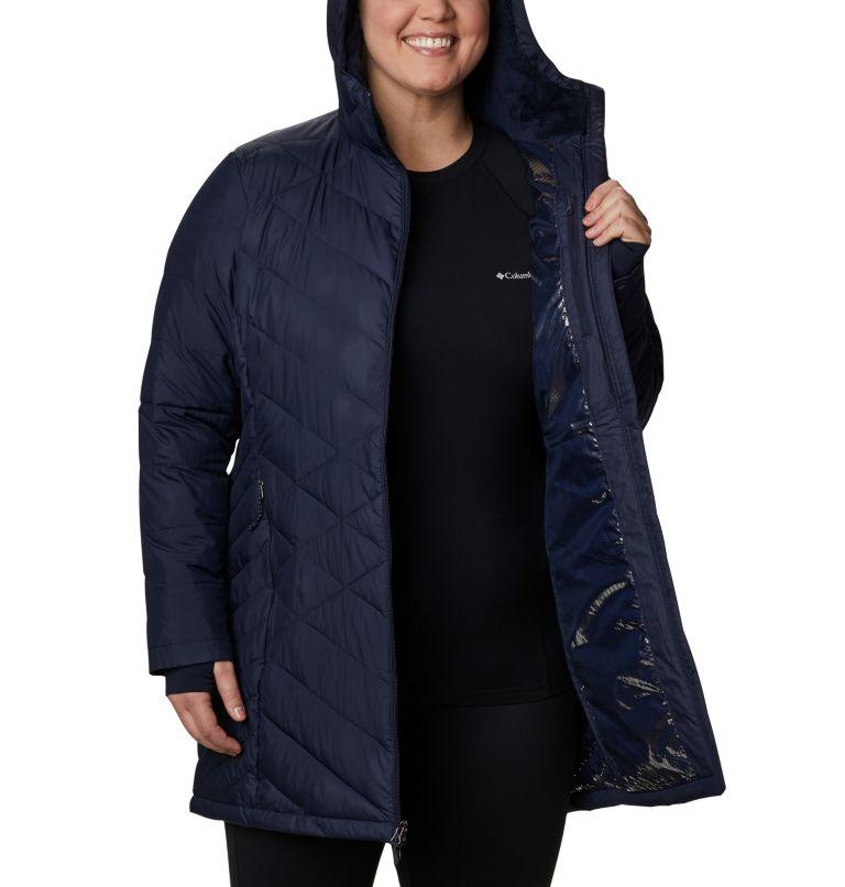 Heavenly™ Long Hdd Jacket | 472 | 2X Women's Heavenly™ Long Hooded Jacket - Plus Size, Dark Nocturnal, a3