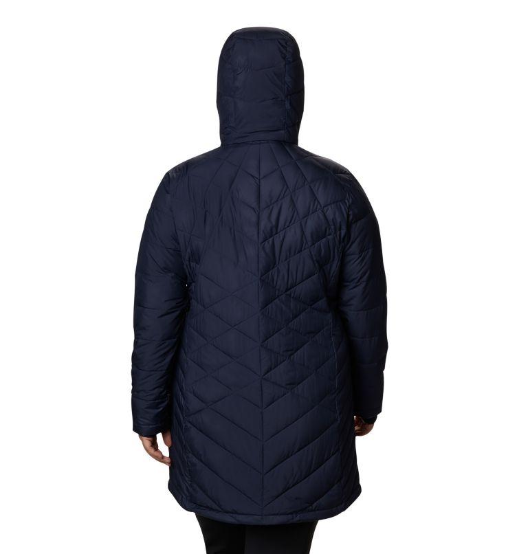 Heavenly™ Long Hdd Jacket   472   2X Women's Heavenly™ Long Hooded Jacket - Plus Size, Dark Nocturnal, back
