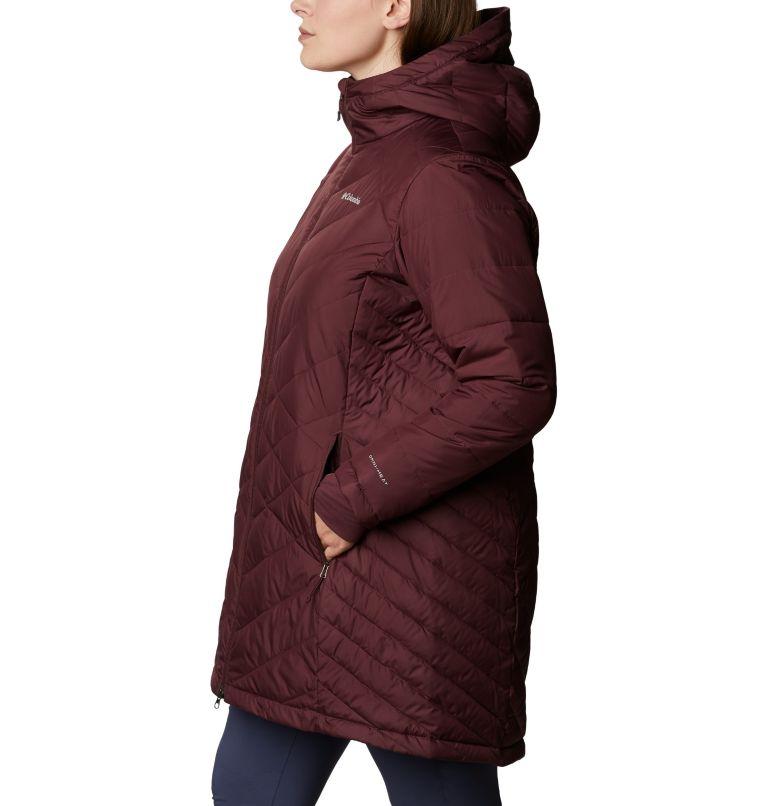 Heavenly™ Long Hdd Jacket | 671 | 1X Women's Heavenly™ Long Hooded Jacket - Plus Size, Malbec, a1