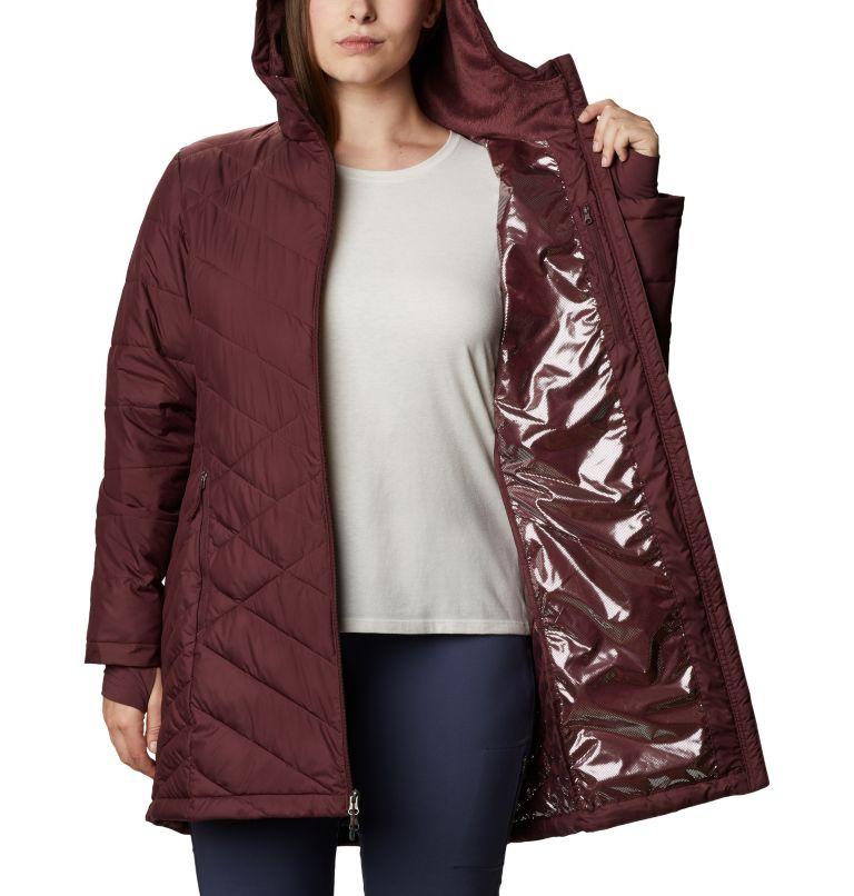 Heavenly™ Long Hdd Jacket | 671 | 1X Women's Heavenly™ Long Hooded Jacket - Plus Size, Malbec, a3