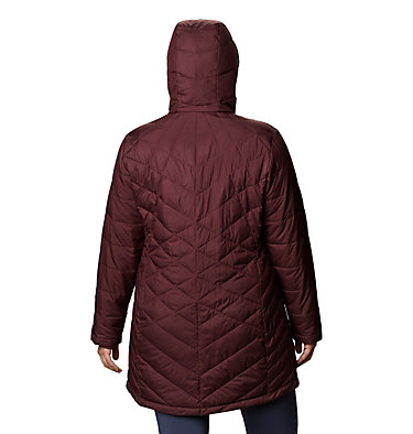 Women's Heavenly™ Long Hooded Jacket - Plus Size Heavenly™ Long Hdd Jacket | 671 | 1X, Malbec, back