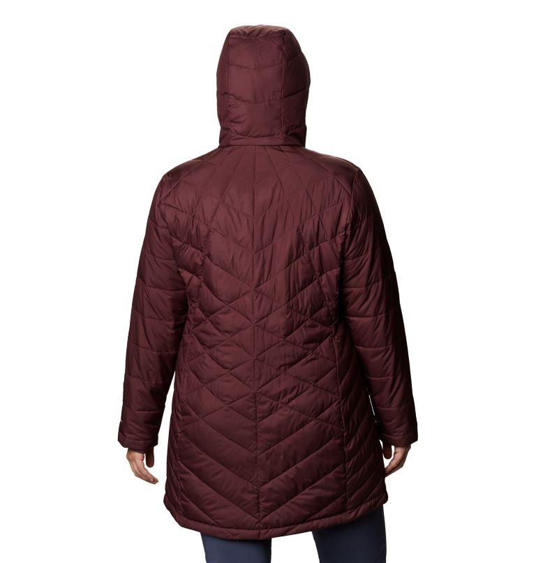 Heavenly™ Long Hdd Jacket | 671 | 1X Women's Heavenly™ Long Hooded Jacket - Plus Size, Malbec, back