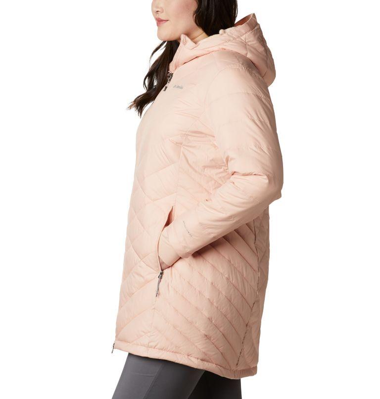 Heavenly™ Long Hdd Jacket   870   2X Women's Heavenly™ Long Hooded Jacket - Plus Size, Peach Cloud, a1