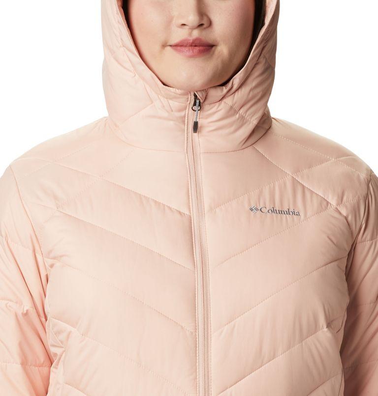 Heavenly™ Long Hdd Jacket   870   2X Women's Heavenly™ Long Hooded Jacket - Plus Size, Peach Cloud, a2