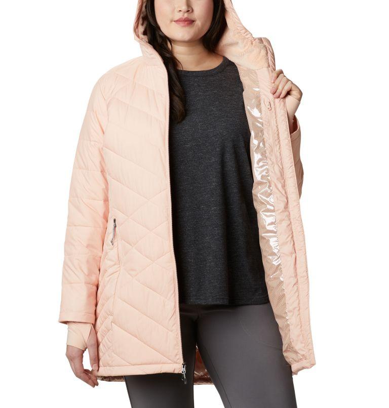 Heavenly™ Long Hdd Jacket   870   2X Women's Heavenly™ Long Hooded Jacket - Plus Size, Peach Cloud, a3