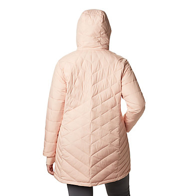 Women's Heavenly™ Long Hooded Jacket - Plus Size Heavenly™ Long Hdd Jacket | 870 | 1X, Peach Cloud, back