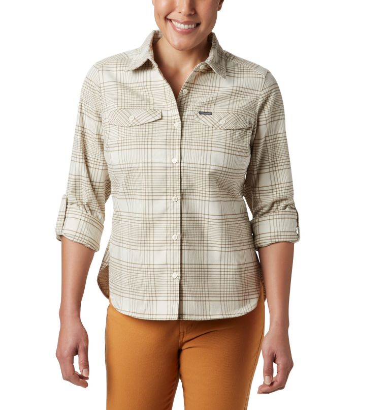 Women's Silver Ridge™ Long Sleeve Flannel Top Women's Silver Ridge™ Long Sleeve Flannel Top, a1
