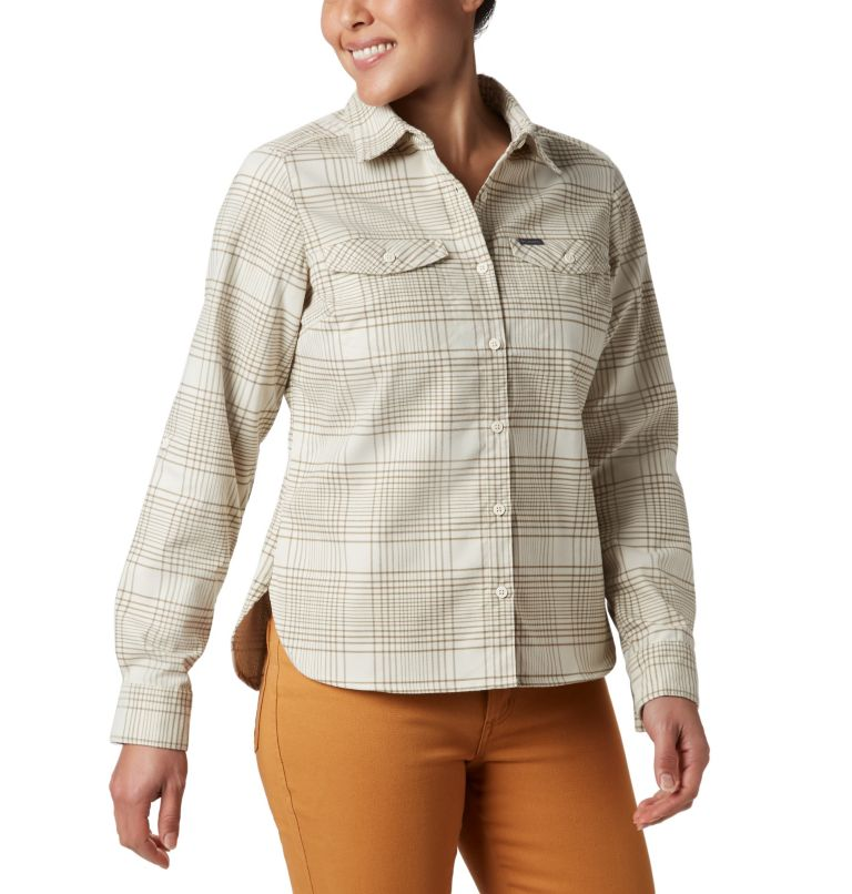 Women's Silver Ridge™ Long Sleeve Flannel Top Women's Silver Ridge™ Long Sleeve Flannel Top, front
