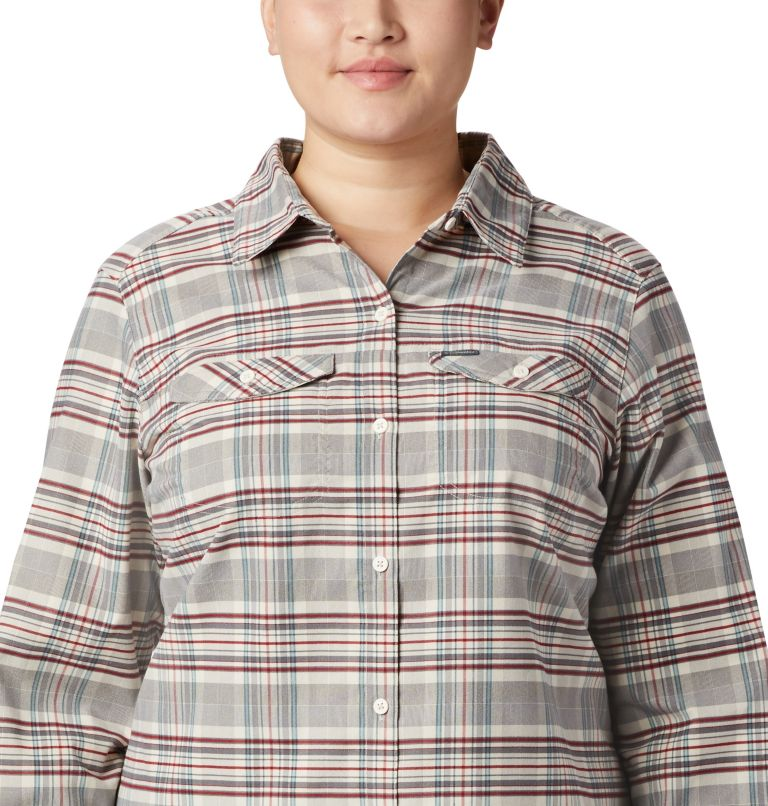 Women's Silver Ridge™ Long Sleeve Flannel Top - Plus Size Women's Silver Ridge™ Long Sleeve Flannel Top - Plus Size, a1