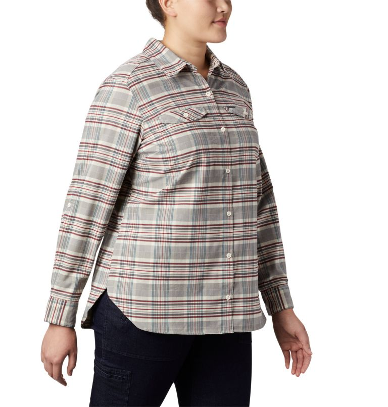 Women's Silver Ridge™ Long Sleeve Flannel Top - Plus Size Women's Silver Ridge™ Long Sleeve Flannel Top - Plus Size, a2
