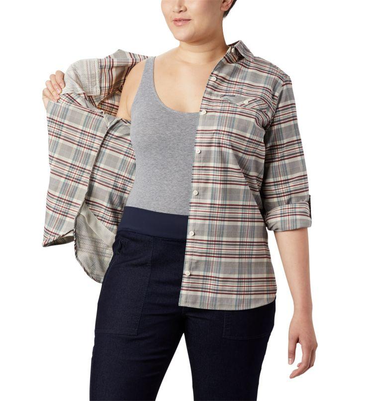 Women's Silver Ridge™ Long Sleeve Flannel Top - Plus Size Women's Silver Ridge™ Long Sleeve Flannel Top - Plus Size, a4