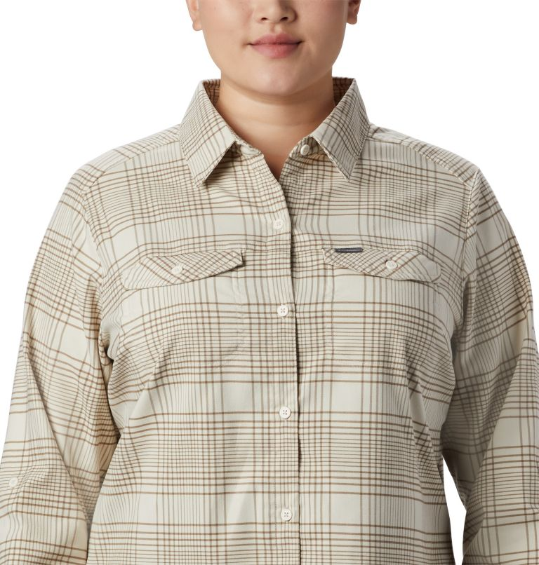 Women's Silver Ridge™ Long Sleeve Flannel Top - Plus Size Women's Silver Ridge™ Long Sleeve Flannel Top - Plus Size, a2