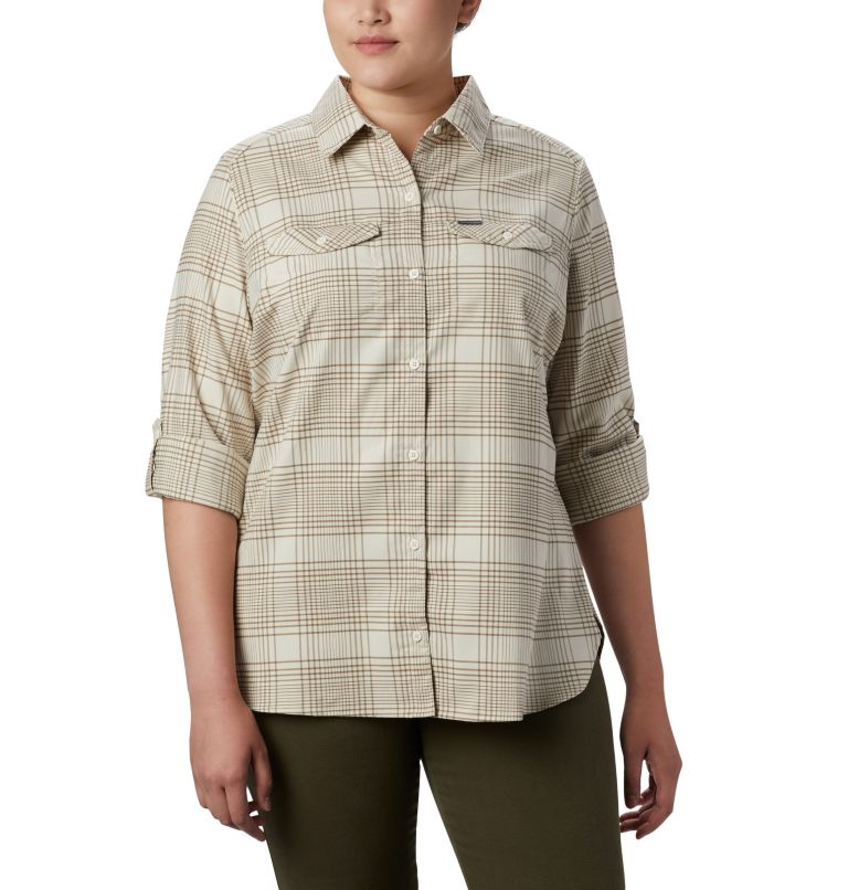 Women's Silver Ridge™ Long Sleeve Flannel Top - Plus Size Women's Silver Ridge™ Long Sleeve Flannel Top - Plus Size, a4