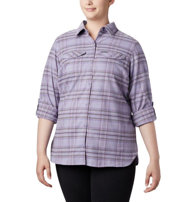 Women's Silver Ridge™ Long Sleeve Flannel Top - Plus Size Women's Silver Ridge™ Long Sleeve Flannel Top - Plus Size, a1