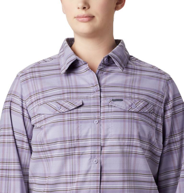 Women's Silver Ridge™ Long Sleeve Flannel Top - Plus Size Women's Silver Ridge™ Long Sleeve Flannel Top - Plus Size, a3