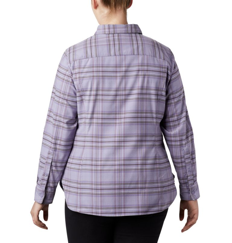 Women's Silver Ridge™ Long Sleeve Flannel Top - Plus Size Women's Silver Ridge™ Long Sleeve Flannel Top - Plus Size, back