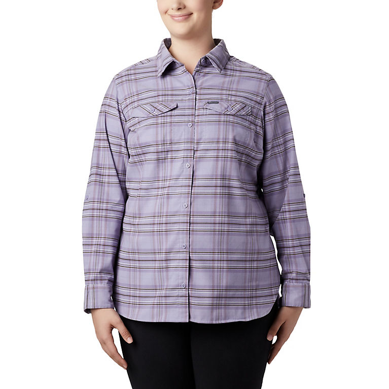 Women's Silver Ridge™ Long Sleeve Flannel Top - Plus Size