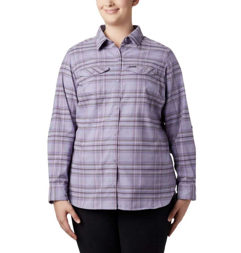 Women's Silver Ridge™ Long Sleeve Flannel Top - Plus Size Women's Silver Ridge™ Long Sleeve Flannel Top - Plus Size, front