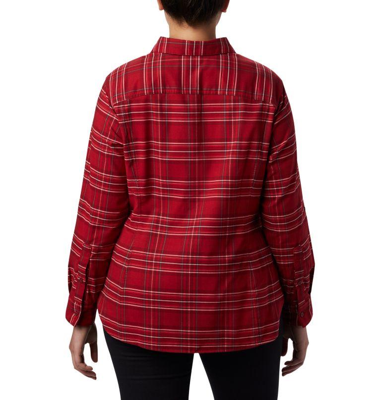 Women's Silver Ridge™ Long Sleeve Flannel Top - Plus Size Women's Silver Ridge™ Long Sleeve Flannel Top - Plus Size, back
