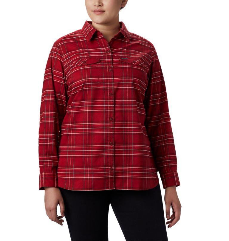 Women's Silver Ridge™ Long Sleeve Flannel Top - Plus Size Women's Silver Ridge™ Long Sleeve Flannel Top - Plus Size, front