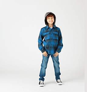 Kids' Boulder Ridge™ Flannel Hoodie