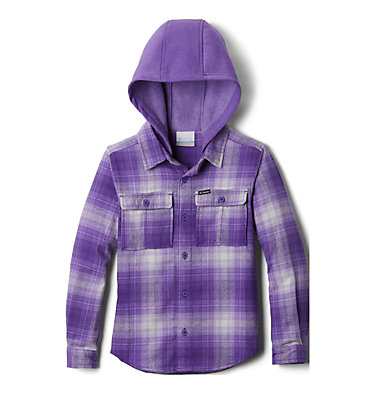 Kids' Boulder Ridge™ Flannel Hoodie Boulder Ridge™ Flannel Hoodie | 464 | L, Grape Gum Plaid, front