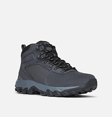 Men's Newton Ridge™ Plus II Suede Waterproof Hiking Boot NEWTON RIDGE™ PLUS II SUEDE WP | 202 | 10, Shark, Black, 3/4 front