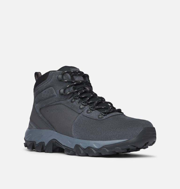 NEWTON RIDGE™ PLUS II SUEDE WP | 011 | 14 Men's Newton Ridge™ Plus II Suede Waterproof Hiking Boot, Shark, Black, 3/4 front