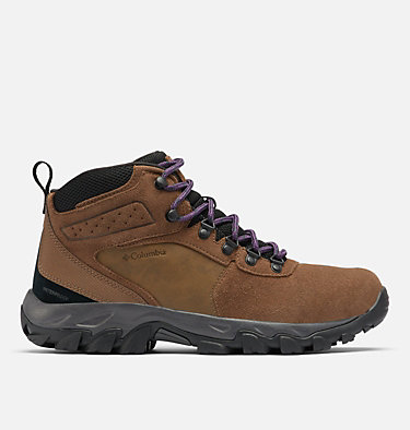 Men's Newton Ridge™ Plus II Suede Waterproof Hiking Boot NEWTON RIDGE™ PLUS II SUEDE WP | 202 | 10, Dark Brown, Cyber Purple, front
