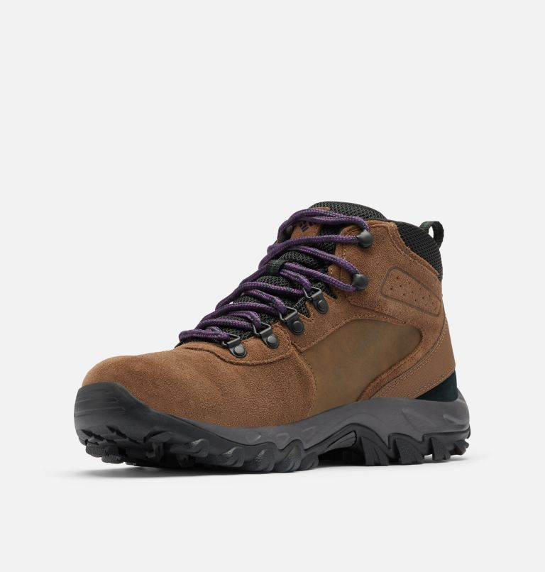 NEWTON RIDGE™ PLUS II SUEDE WP | 202 | 13 Men's Newton Ridge™ Plus II Suede Waterproof Hiking Boot, Dark Brown, Cyber Purple