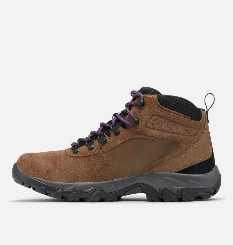 NEWTON RIDGE™ PLUS II SUEDE WP | 202 | 13 Men's Newton Ridge™ Plus II Suede Waterproof Hiking Boot, Dark Brown, Cyber Purple, medial
