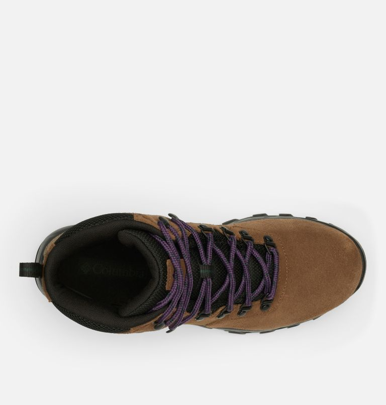 NEWTON RIDGE™ PLUS II SUEDE WP | 202 | 16 Men's Newton Ridge™ Plus II Suede Waterproof Hiking Boot, Dark Brown, Cyber Purple, top