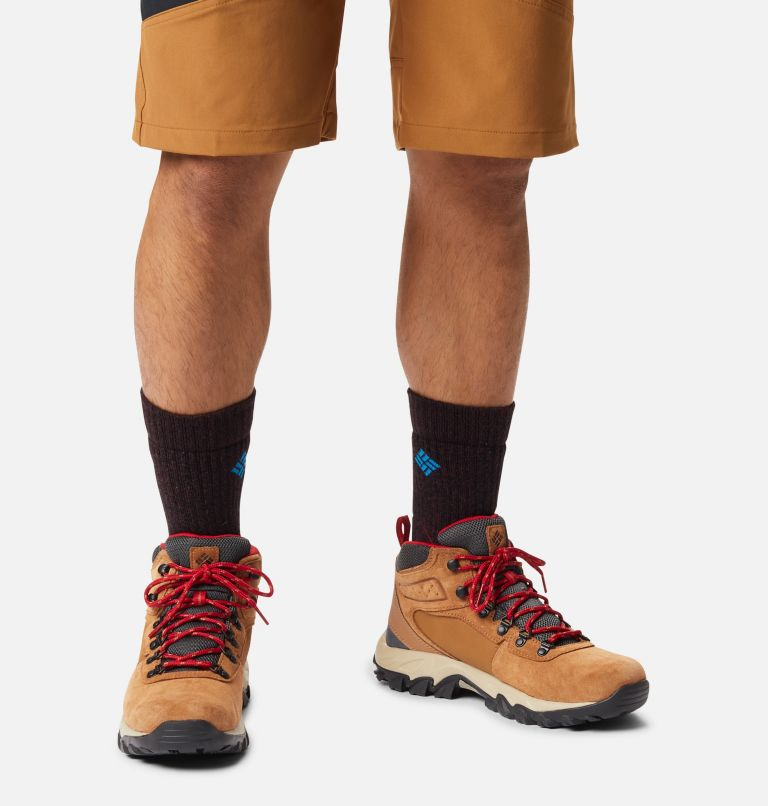 NEWTON RIDGE™ PLUS II SUEDE WP | 286 | 17 Men's Newton Ridge™ Plus II Suede Waterproof Hiking Boot, Elk, Mountain Red, a9