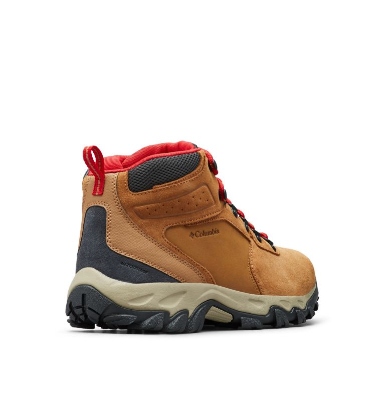 NEWTON RIDGE™ PLUS II SUEDE WP | 286 | 15 Men's Newton Ridge™ Plus II Suede Waterproof Hiking Boot, Elk, Mountain Red, 3/4 back