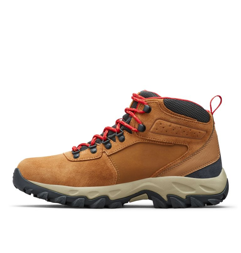NEWTON RIDGE™ PLUS II SUEDE WP | 286 | 15 Men's Newton Ridge™ Plus II Suede Waterproof Hiking Boot, Elk, Mountain Red, medial