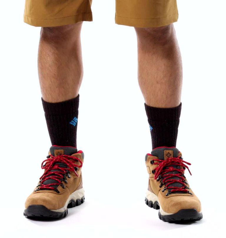 NEWTON RIDGE™ PLUS II SUEDE WP | 286 | 13 Men's Newton Ridge™ Plus II Suede Waterproof Hiking Boot, Elk, Mountain Red, video